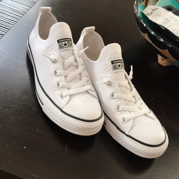 Womens Converse Chuck Taylor All Star Shoreline Knit Slip Low Top White